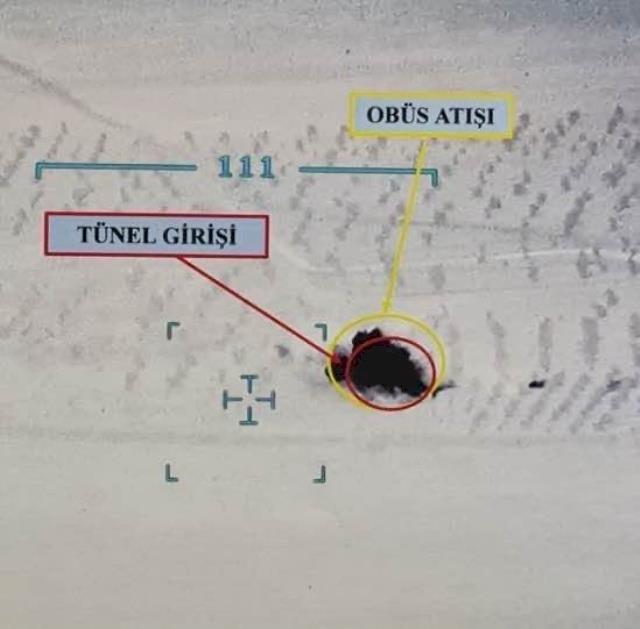 Fırat Kalkanı bölgesinde 2 askerimizi şehit eden teröristlerden 7'si etkisiz hale getirildi