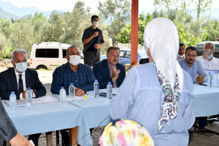 Dışişleri Bakanı Mevlüt Çavuşoğlu Çandırda